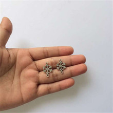 Christmas Ornament Gift Snow Flake Charm Pendant Vintage Metal Flakes Charm Pendant 19x12mm 30pcs T369 New Arrival Free Shipping