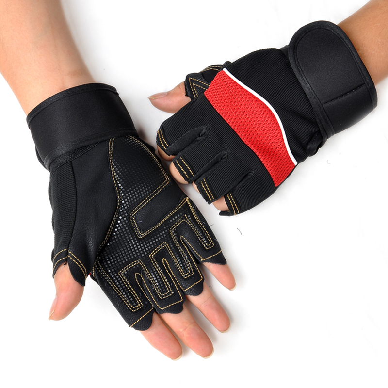 1 Pair Half Finger Sport Gloves Hiking Glove One Size