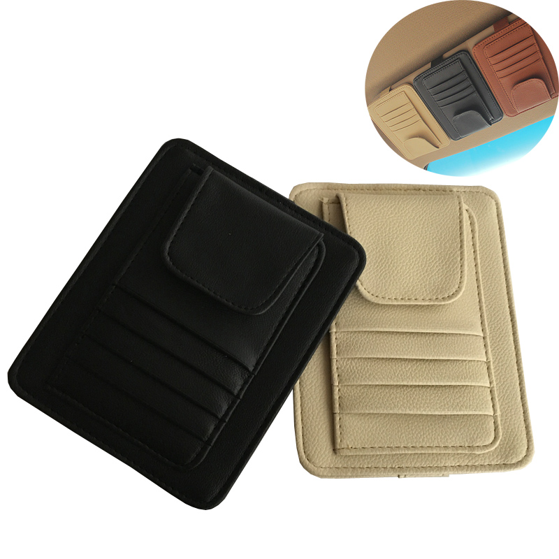 Pen-Bag Sunglasses Storage-Clip Sun-Visor Credit-Card With 3-Color Package Car-Vehicle