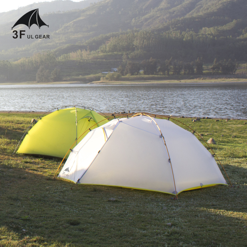 3F UL GETRIEBE 15D Nylon Fabic Doppel Schicht 3 Saison Camping Zelt Wasserdicht Zelt Für 2 Personen Wandern Ultraleicht
