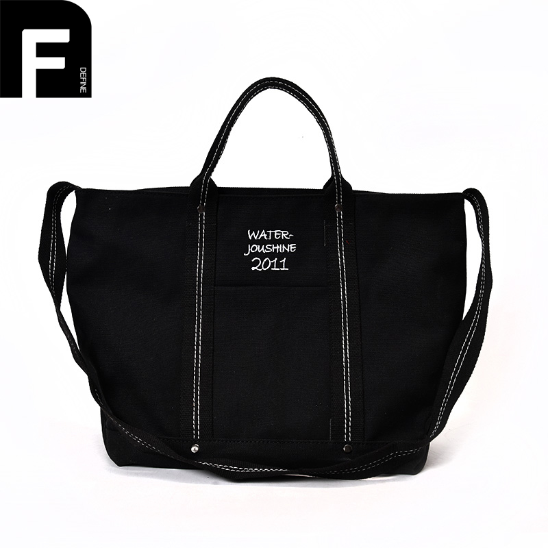 Fashion Canvas Tote Bag Women Handbag Shoulder Bags Messenger Bag Casual Female High Quality Large Capacity Black and White personality retro men and women fashion large travel bag casual canvas handbag