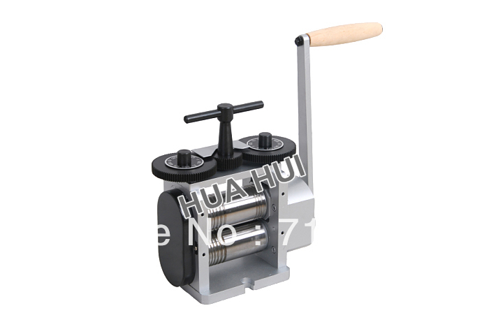 Combination 130mm Rolling Mill For Making Flat, Square & Half Round Sheet Stock goldsmith 4142 flat stock 3in wx18in l