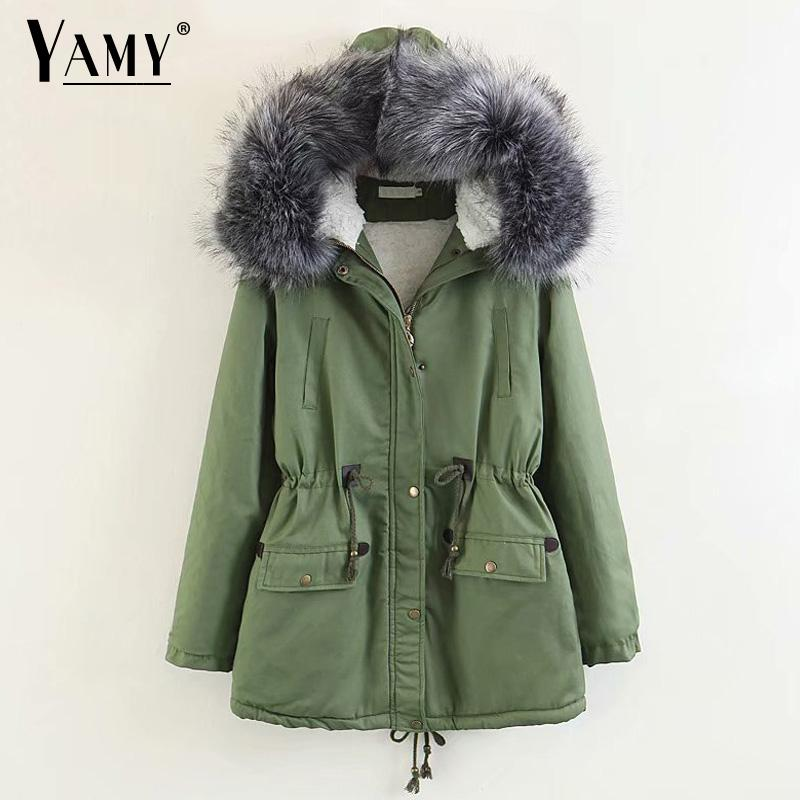 Winter jaket women padded Hooded   Parkas   women winter coat Warm Thick Down jacket overcoat   Parkas   plus size korean outwear