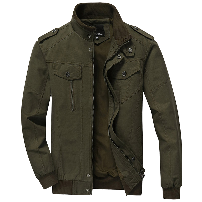 TACVASEN Autum Jackets Men Military Army Jacket Coat Cotton Air Force Bomber Jackets Male Casual Cargo Overcoats Men Clothing