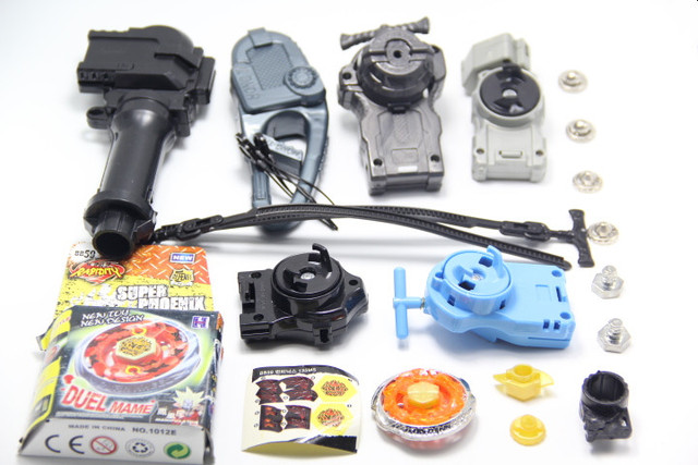 Burn Phoenix 135MS Metal Masters 4D Beyblade BB-59 BeyLauncher LR Power String Launcher (Can spin Leff and Right!) + GRIP