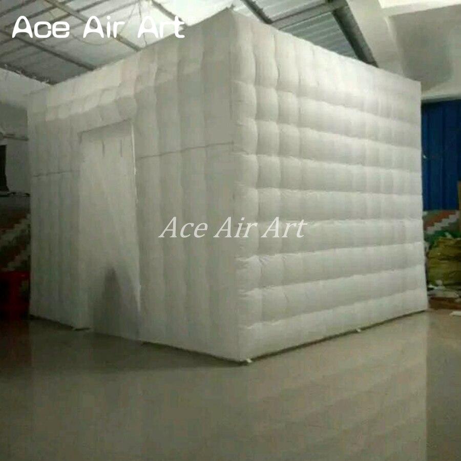 Art d'air d'ace a offert le Cube gonflable blanc de cabine de Photo de 3 mL * 3 mW * 2.4mH/tente cubique gonflable de partie pour Santiago
