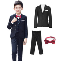 children's suits for boys Clothes clothing for boys children's sets for boys (coat pant tie) kids suits boys child wedding dress