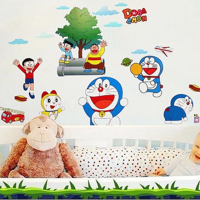 removable pvc doraemon kartun wall stiker untuk anak kamar bayi