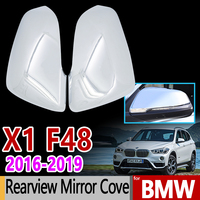 for BMW F48 X1 Luxurious Chrome Rear view Mirror Cover Rearview Side Mirror 2Pcs Car Accessories Stickers 2016 2017 2018 2019