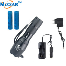 zk10 4000 Lumens XM-L T6 High Quality Camping Led Flashlight Portable Lantern For + 2 *5000mAh rechargeable battery +2* Charger