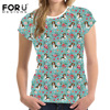FORUDESIGNS 2018 Summer T Shirt Women Beagle 3D Lovely Printing Originality O Neck Harajuku Short Sleeves
