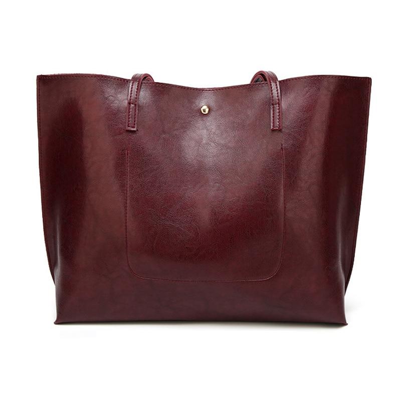 Nevenka Leather Handbag Women Casual Totes Female Shopper Ladies Shopping Bags Large Capacity Bags Vintage Bag for Women 201820