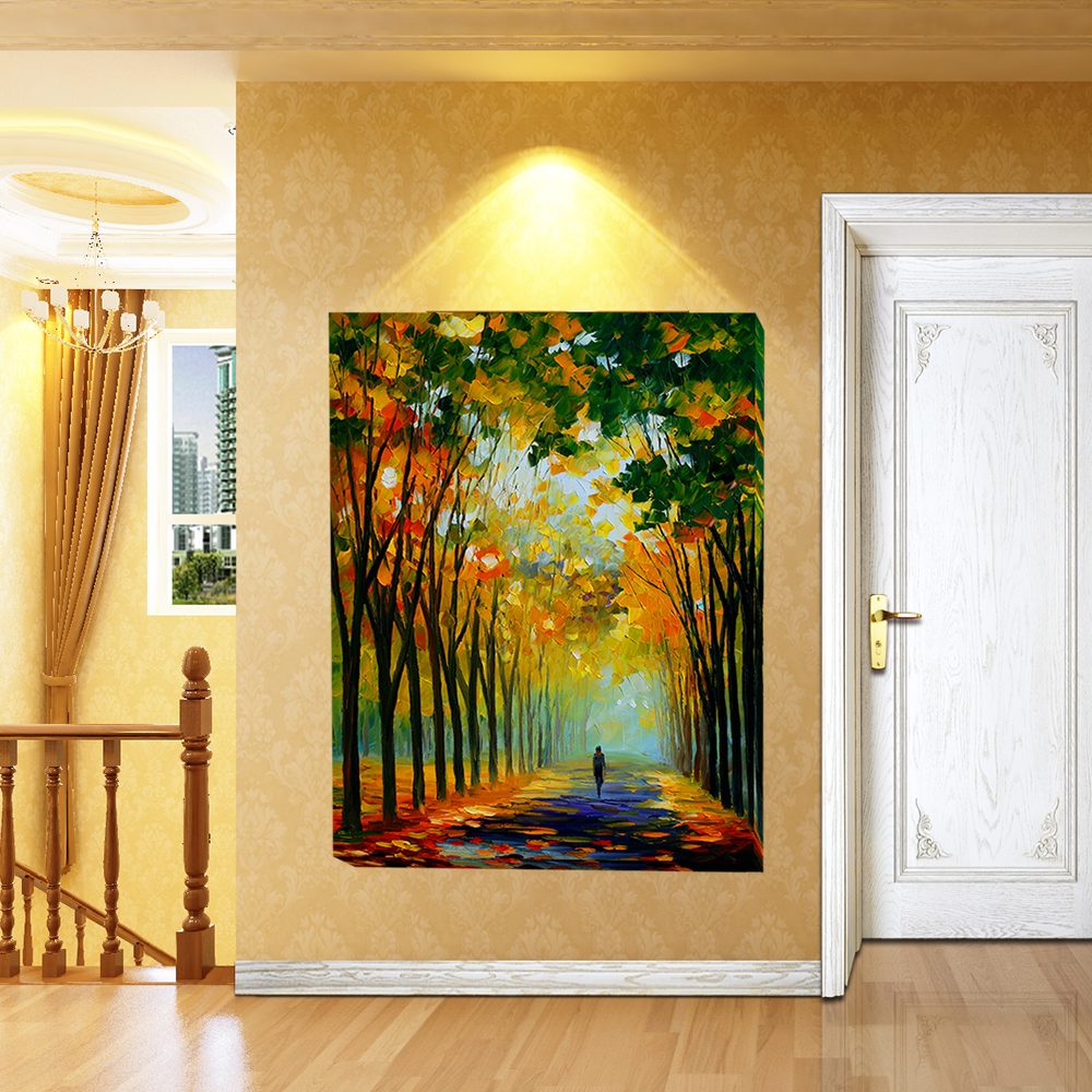 Unframed Walking In Forest Canvas Effect 1 Piece Wall Painting Art ...