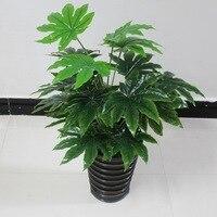 65cm Latex Artificial Evergreen Pachira Plant Tree in Wedding Home Beach Office Furniture Decor Green Branch Fake Foliage