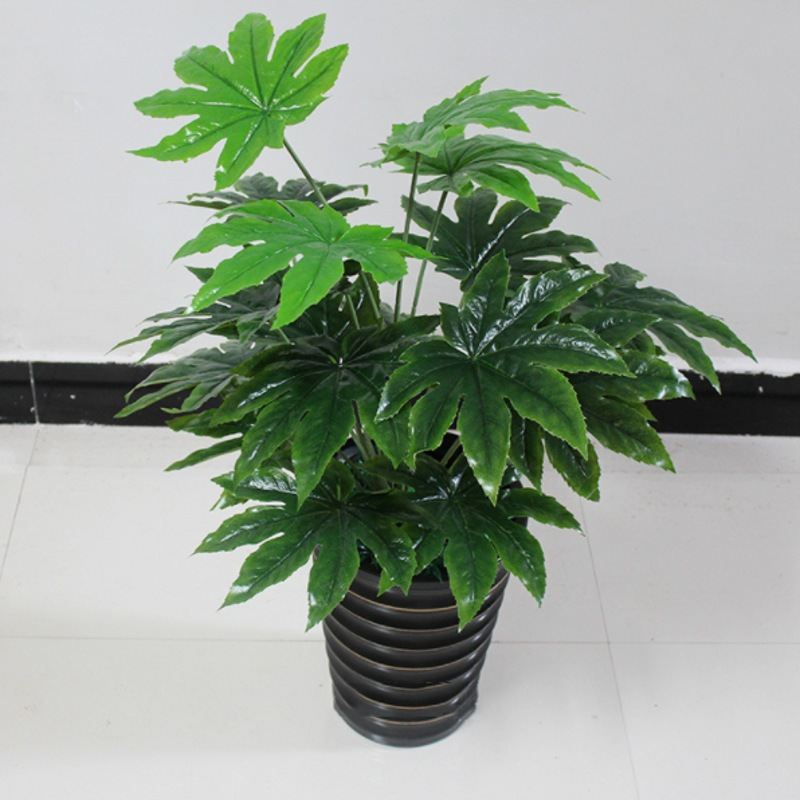 65cm Latex Artificial Evergreen Pachira Plant Tree in Wedding Home Beach Office Furniture Decor Green Branch Fake Foliage