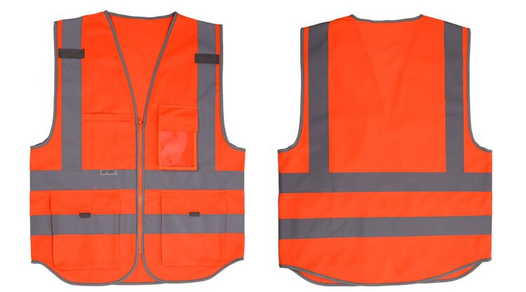 2018 Sale New Vest Material Visibility Security Safety Vest Jacket Reflective Strips Work Wear Uniforms Clothing 14