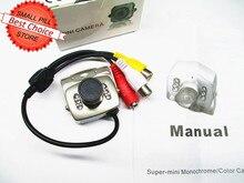 Newest Mini Security CCTV Camera CMOS 380TVL Audio Video A/V IR Day Night PAL NTSC