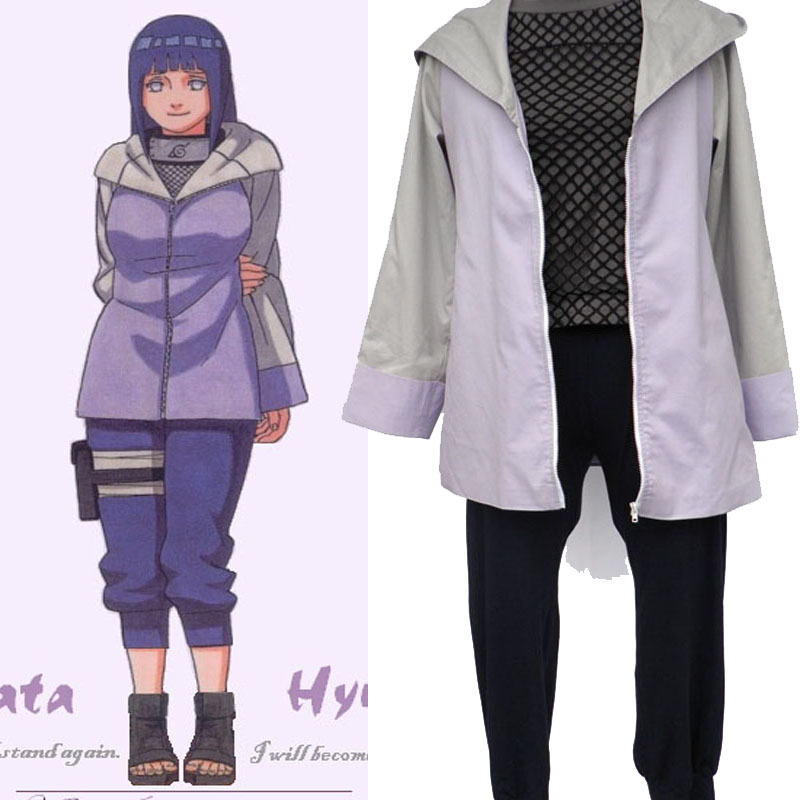 Naruto Hinata Hyuga Cosplay Costumes Cartoon Character Women Dress