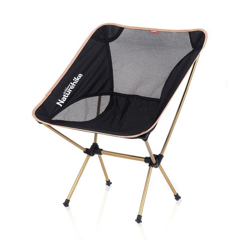 Naturehike New Outdoor Foldable Beach Chair Portable Aluminium Alloy Chair NH15Y012-L kingcamp compact chair l