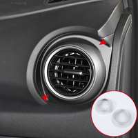 Car Styling Accessories 2PCS ABS Matte Interior Side Air Vent Outlet Cover Trim For Hyundai Kona