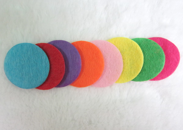 20pcs/lot 25mm round felt pad for taking essential oil on the diffuser locket necklace jewelry