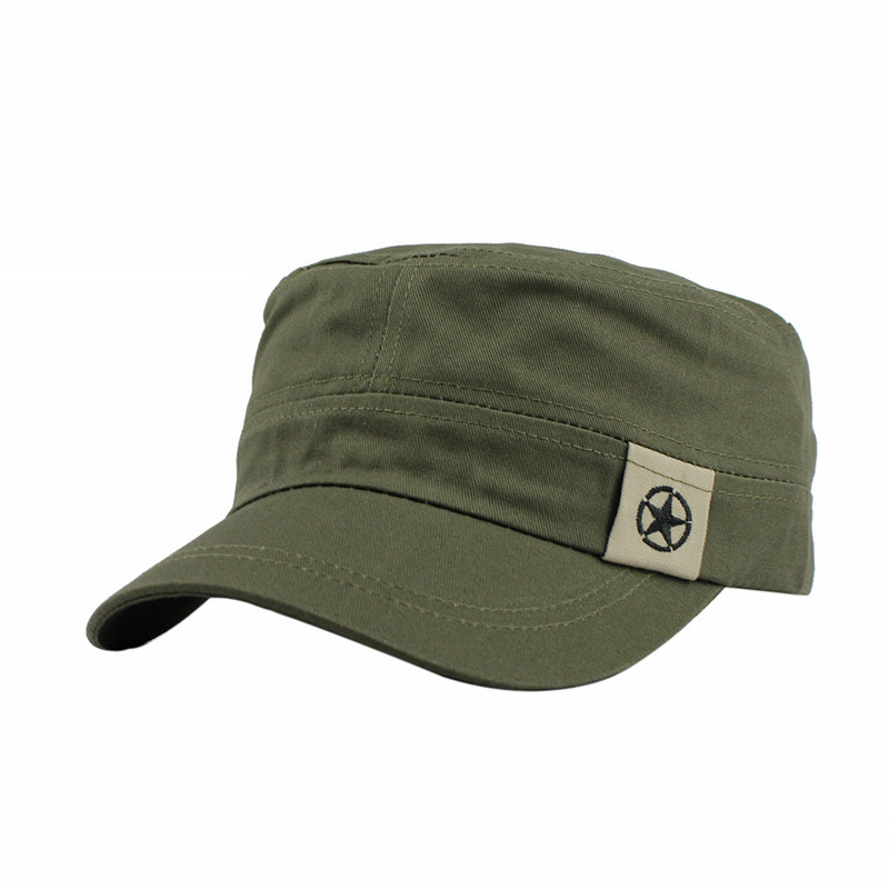 861393b62f8276 FETSBUY Classic Vintage Flat Top Mens Caps And Hat Adjustable Fitted Cap  Warm Casual Star Military Hats For Men Caps Gorras-in Men's Military Hats  from ...