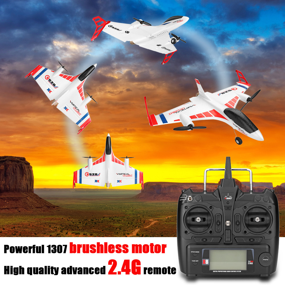 XK X520 RC Plane 2 4G 6CH X8 Transmitter Dual Brushless 720P Wifi FPV Remote Control