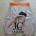 Jc rainha de látex calções cueca boxer homens calças ângulo reto com pênis de látex 100% natural puro handmade sexy