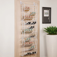 36 Pairs Shoe Rack Metal Tube with PP Material Door Hanging Shoe Rack Extra Large Shoe Storage Organizer