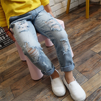 Children Ripped Hole Jeans Pants 2020 2