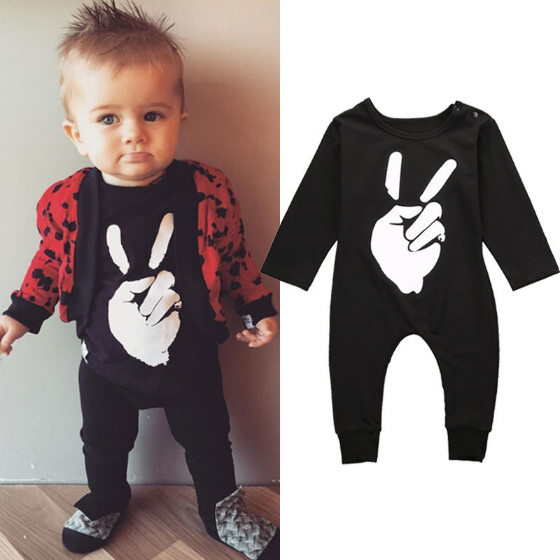 Newborn Infant Baby Girls Boys Clothing Fist Romper Long Sleeve Jumpsuit Outfits Baby Boy Clothes 2017 new adorable summer games infant newborn baby boy girl romper jumpsuit outfits clothes clothing