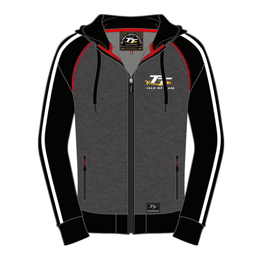 2018 Moto GP Isle Of Man TT Races Mens Hoodies Adult Windproof Motorcycle Sports Jacket Cotton Autumn Men's Zip-up Sweatshirts embroidered zip up baseball jacket