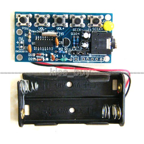 FM 76MHz-108MHz Wireless Stereo FM Radio Receiver Module PCB DIY Electronic Kits