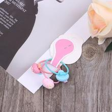 Hair Band Fruit Creative Cute Headband Girls Ponytail Elastic Decoration Headwear Accessories Kids Children Rope Fashion цена