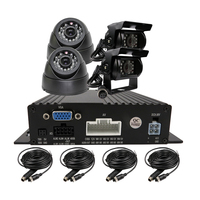 Free Shipping 4 CH 720P AHD Real Time Recording Mobile SD Car DVR MDVR Recoder Kit