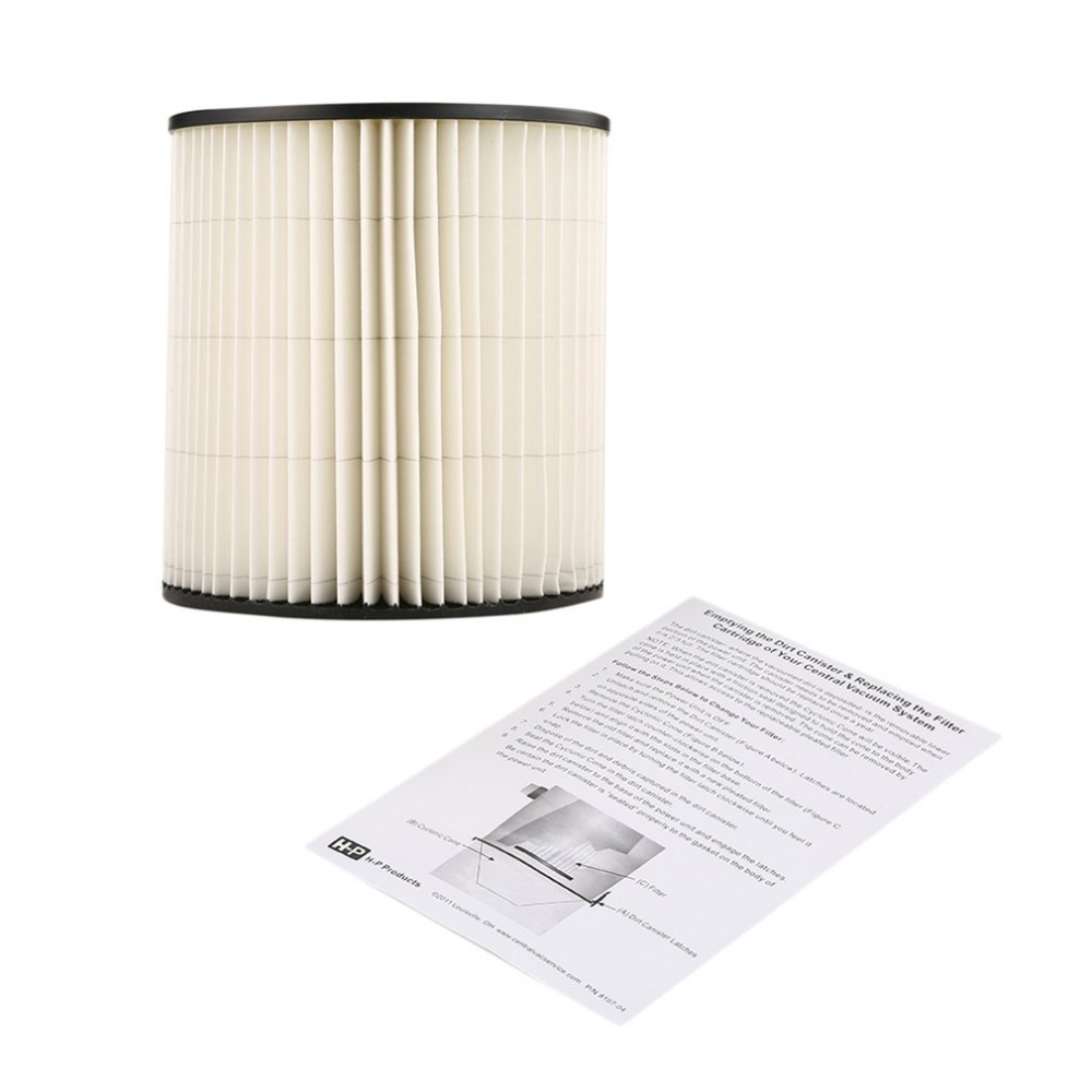 Central Vacuum Replacement Filter Part for Dirt Devil VFDD810601 Cartridge Filter Royal Canister Vacuum Cleaner Accessories replacement filter for karcher a wd series vacuum cleaner cartridge filter for a2004 wd2 250 vacuum cleaner acc spare part 2pcs
