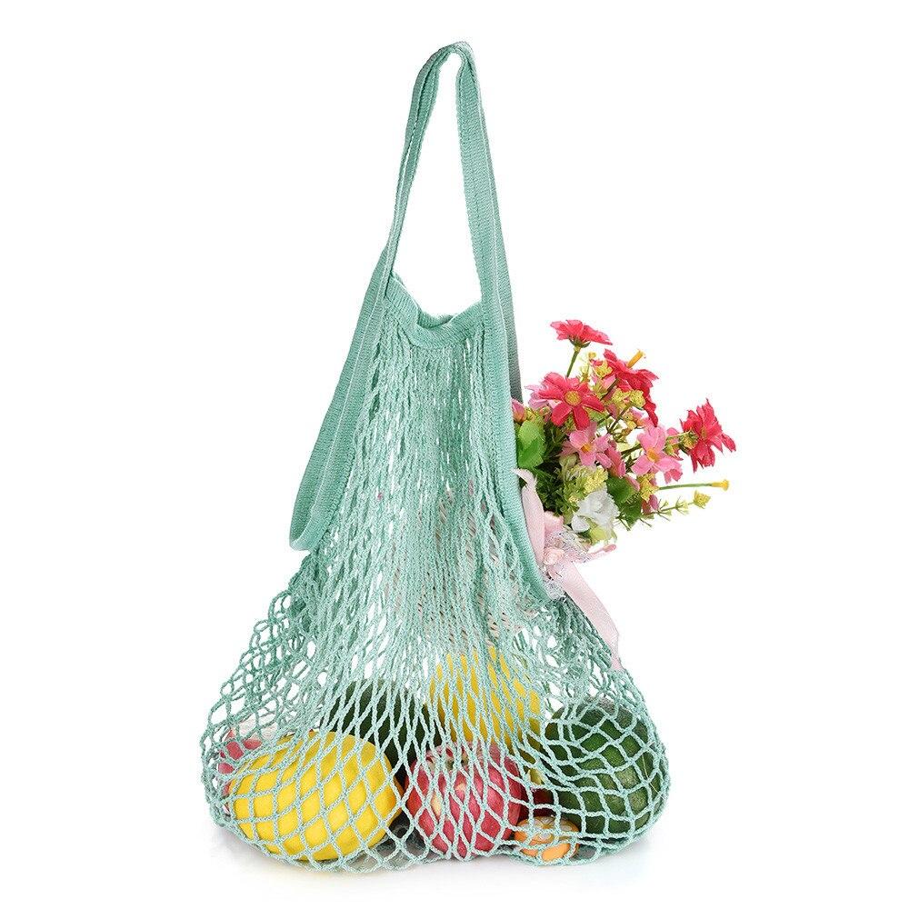 Mesh Net Turtle String Shopping Bag Reusable Fruit Storage Handbag Totes