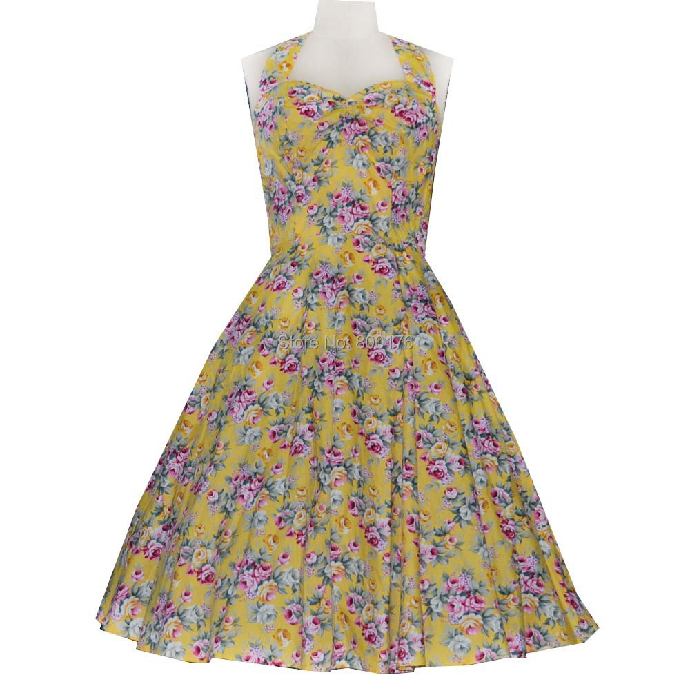 Free shipping 2015 new Arrival Sexy Vintage West style print dresses Party Prom latest design rockabilly