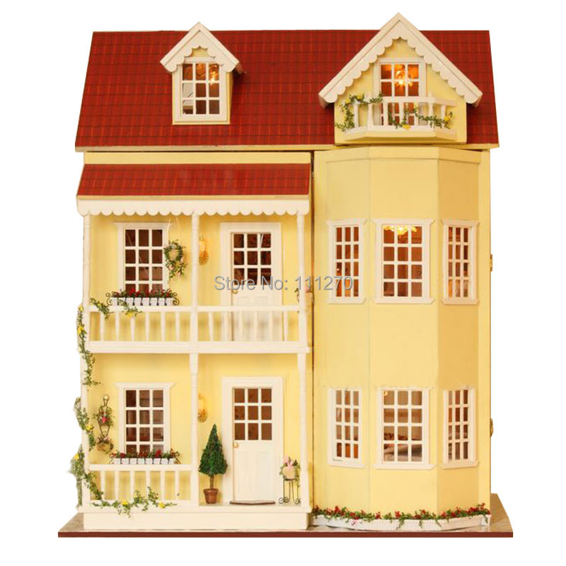 Toys & Hobbies Sunshine Alice Diy Wooden 3d Lights Miniature Dollhouse Furniture Puzzle Kit My Little House Toys For Children Christmas Gifts Comfortable Feel