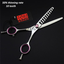 Professional hair scissors Thinning scissors 6.0 INCH 440C 10 Teeth Thinning Shears Equipment Salon Tools 50% thinning rate