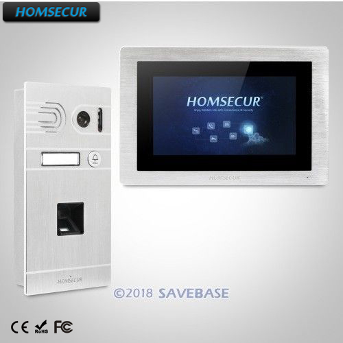 HOMSECUR 7 Hands-free Video Door Entry Security Intercom+Touch Screen Monitor homsecur 9 video door entry security intercom ultra large screen monitor 2c1m