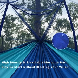 Image 3 - Dropshipping 1 2 Person Outdoor Mosquito Net Parachute Hammock Camping Hanging Sleeping Bed Swing Portable Double Chair Hamac