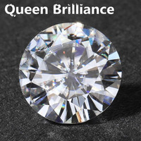 Свободные синтетический бриллиант queen Блеск Оптовая Продажа 6 карат ct 12 мм не менее G/H VVS2 Высокое качество Бесплатная доставка