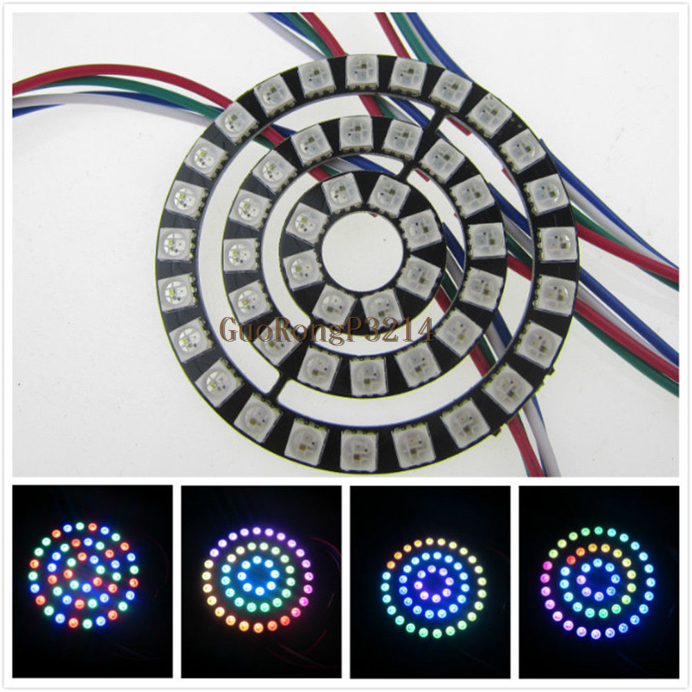 Mokungit WS2813 Ring New WS2812B 48 Bit RGB LED Ring 5050 RGB Led Board For Arduino 5V DC Strip Type
