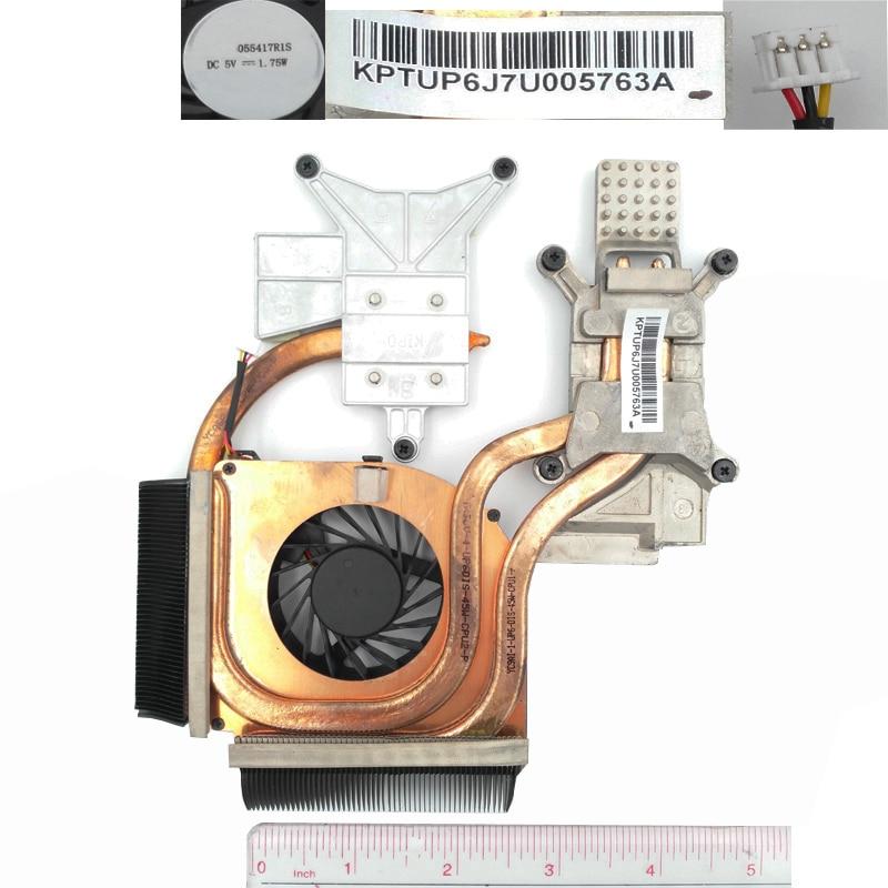 Жаңа түпнұсқа Fan DV6-2000 Heatsink үшін HP DV6-2000 DV6-2100 PN: 579158-001 салқындатқыш / радиатор ауыстыру салқындату