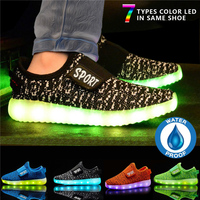 Kids Baby Boys Girls LED Light Glowing Shoes Bling Sport Shoes Anti Slip Soft Sneakers New Shining Night Party Fashion New D25