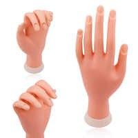 Nagel Praxis Hand Modell Flexible Beweglichen Silikon Prothetische Weiche Gefälschte Hände für Nail art Training Display Modell Maniküre Werkzeug