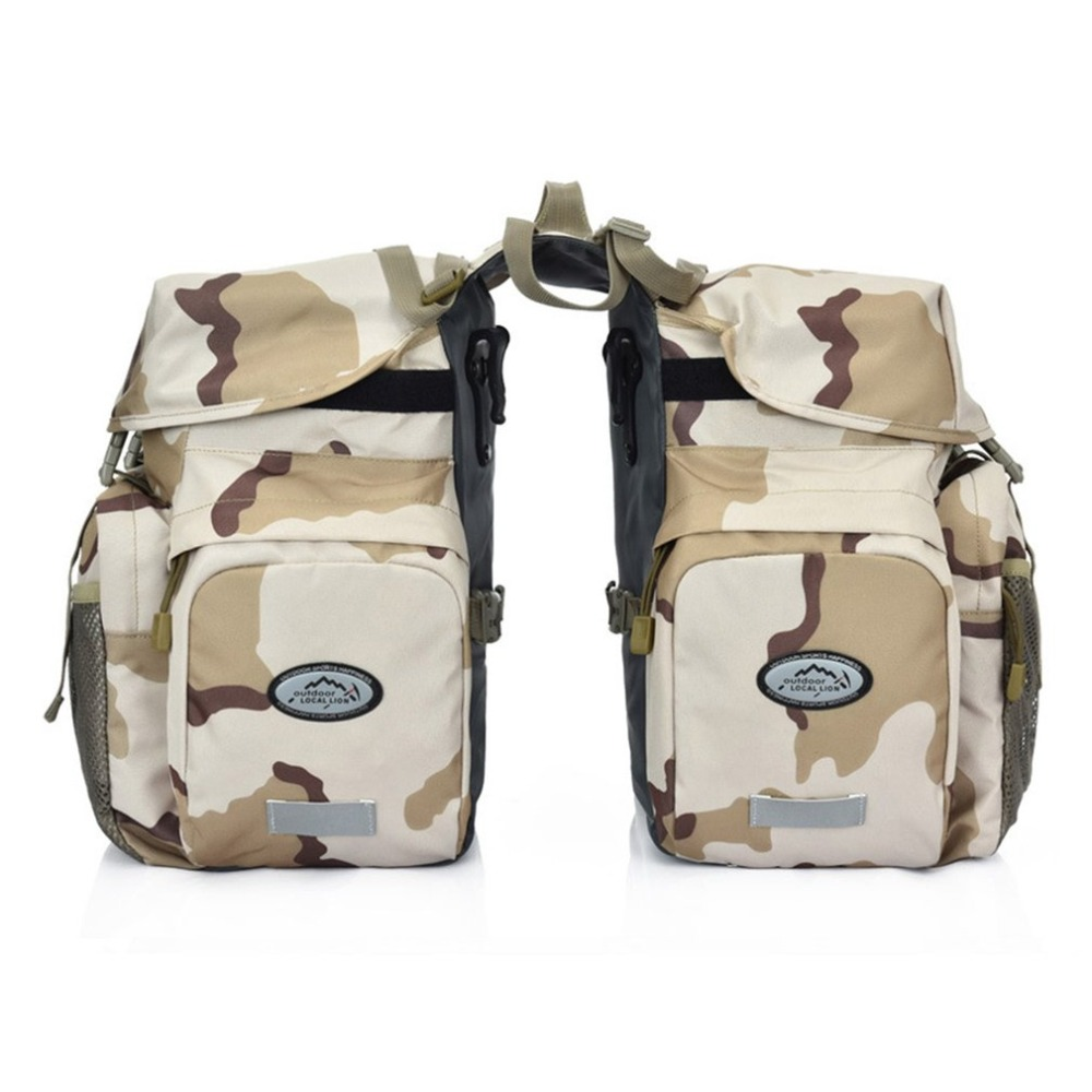 Camouflage Waterproof Luggage Bag Cycling Rear Bag Lightweight Durable Bicycle Rear Seat Trunk Bag Saddle bags Accessories luggage