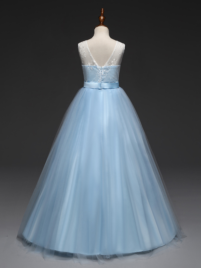 Evening Wear for Children Lavender Light Blue Dressing Gown Kids ... ce1bb5c4e
