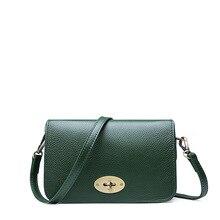 Genuine Leather Vintage Bag Luxury Handbags Women Bags Designer Messenger Bags Small Female Shoulder Bags Flap Bags Lock Design цена в Москве и Питере